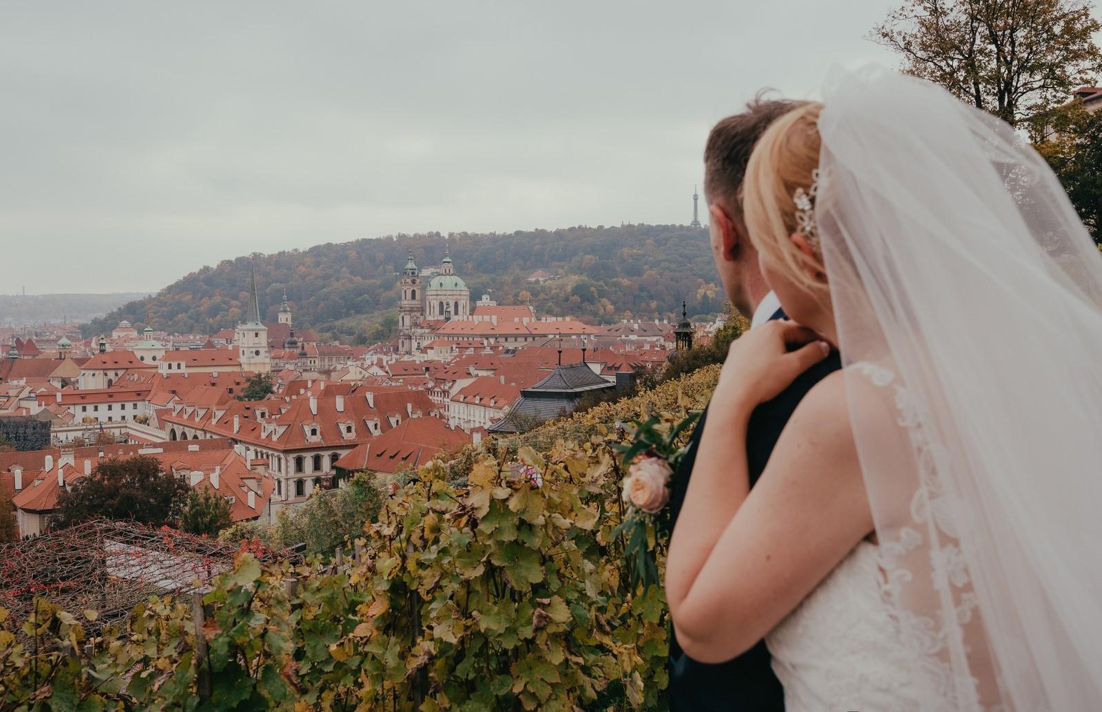 Podzimní svatba v Praze