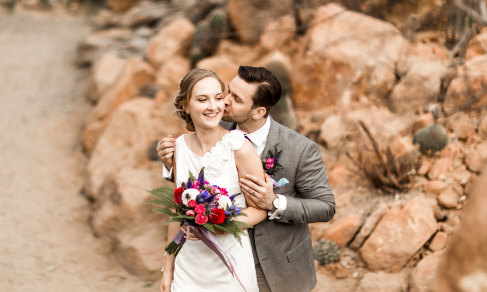 modro fialová svatba